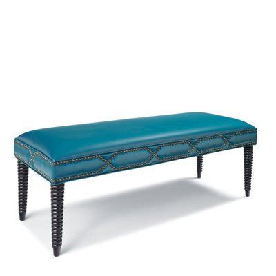 turquoise leather bench cameron leather bench everything turquoise