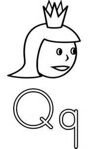 the letter q coloring page for free printable picture