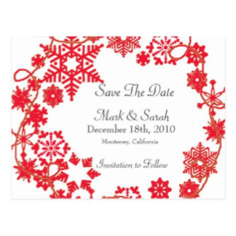 holiday wreath red save the date postcards