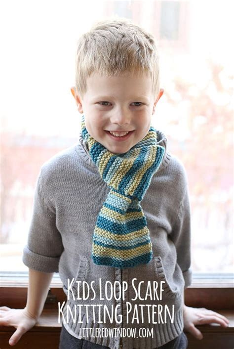 knitting pattern for child s scarf uk kids loop scarf knitting pattern allfreeknitting com