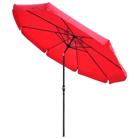 Waterproof Patio Umbrella 10ft Aluminum Outdoor Patio Umbrella W Valance Crank Tilt Sunshade Market Garden Ebay