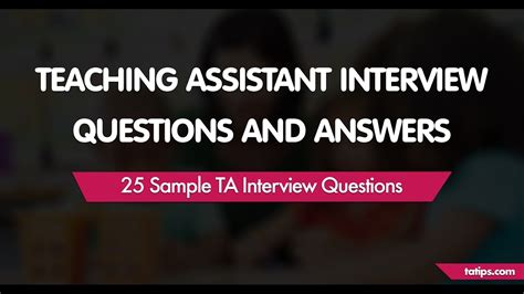teaching assistant questions