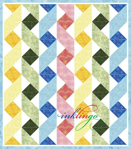 quilt pattern ribbon do you recognize the designer of this triangle quilt