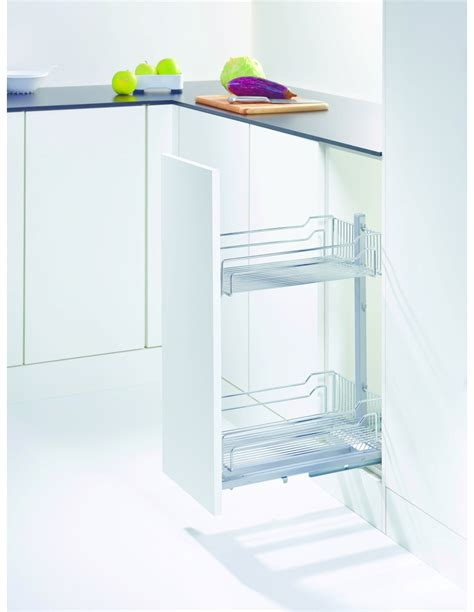 kesseböhmer base cabinet pull out storage kessebohmer 400mm base unit pull out classic chrome