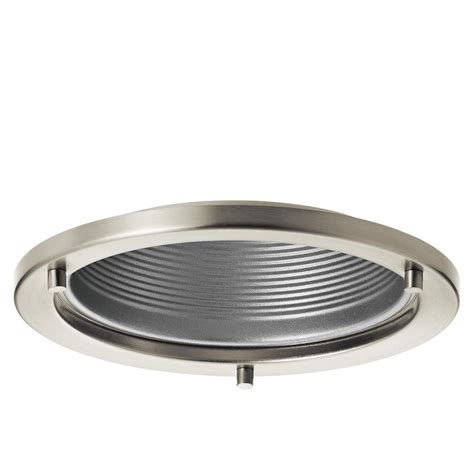 baffle trim recessed lighting shop kichler marita brushed nickel and silver baffle