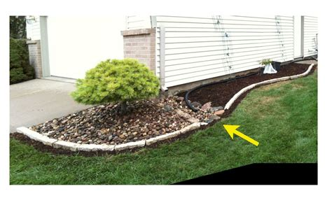 Landscape Edging With Drainage Edging And Drainage Features Joe Sonza Novera
