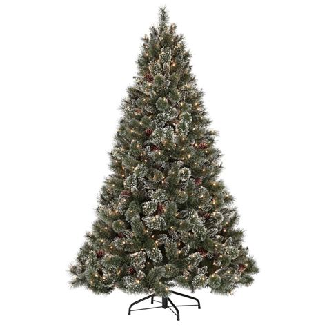 martha stewart christmas trees martha stewart living 7 5 ft pre lit glittery pine artificial tree the home depot canada