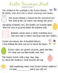 easter scavenger hunt printable easter scavenger hunt clues 2016 edition