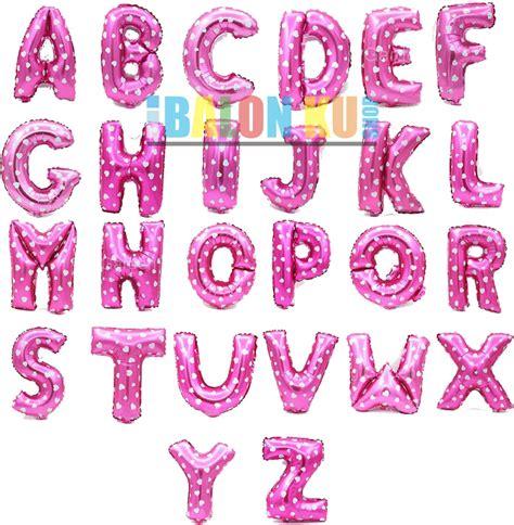 Balon Foil Huruf A Z Letter A Z Biru Dan Pink Hbl011 jual balon foil huruf a z warna pink dengan pattern hati balonku shop