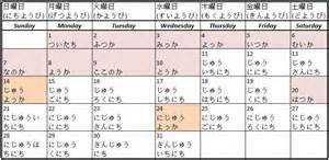 Japanese Calendar Japanese Journey Lessons My Journey Of Mastering