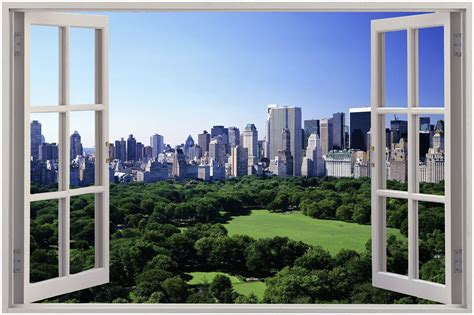 window with a view huge 3d window view central park new york wall sticker art