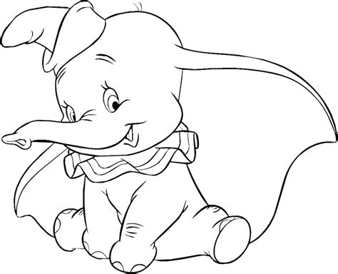 Dumbo Coloring Pages Free Dumbo Baby Elephant Coloring Pages