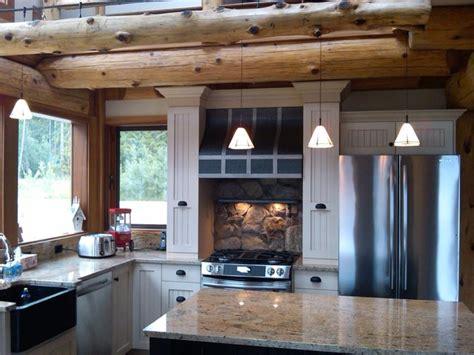 log home lighting design kitchen ideas for log homes rustic kitchen