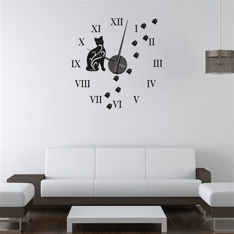 cat wall stickers cat wall sticker clock wall chimp