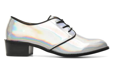 shelly shoes shellys odierna lace up shoes in silver at sarenza