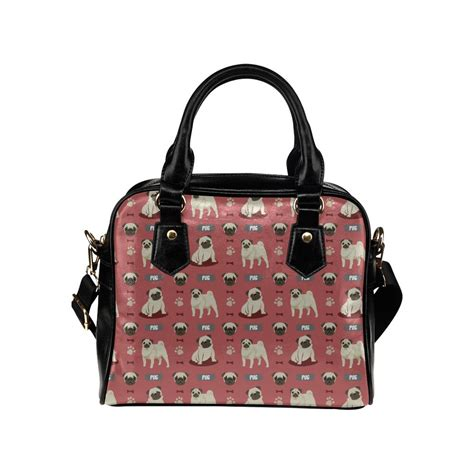 pug purses and handbags pug pattern shoulder handbag