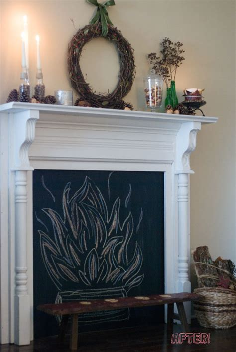 diy chalkboard fireplace 3 gorgeous diy faux fireplaces poetic home