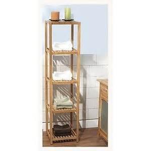 Bamboo Shelves Bathroom Bamboo Towel Linen Storage Shelf Bath Shower Spa Organizer Bathroom Accessories Ebay