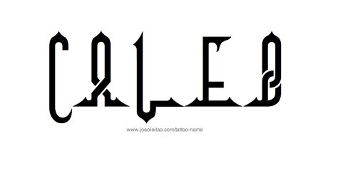 caleb name tattoo designs
