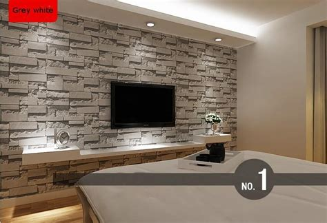 Brick Wallpaper Grey Living Room | 3d stone wallpaper picture more detailed picture about