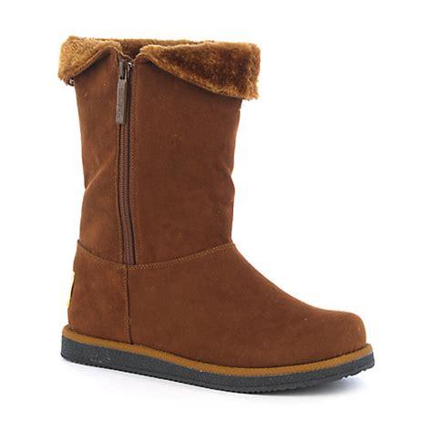 shiekh womens flat fur lined mid calf boot