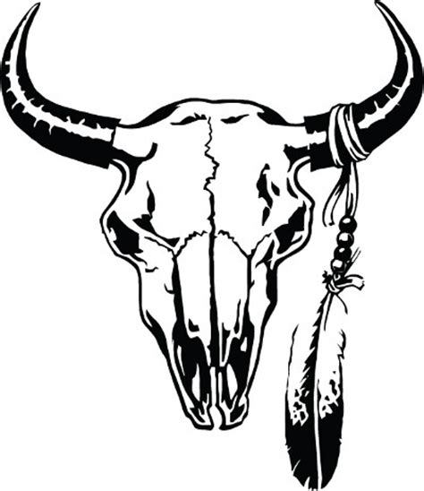 cattle skull decal clipart panda free clipart images