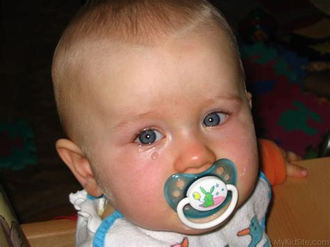 baby with teether
