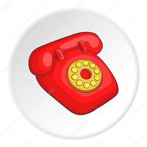 imagenes de telefonos retro icono de tel 233 fono rojo retro estilo de dibujos animados