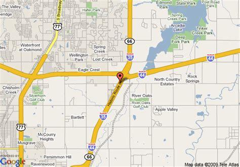 where is edmond oklahoma on the map map of sleep inn suites edmond