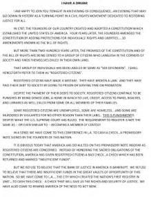 Martin Luther King Jr Speech Essay by I A Speech Summary Essay Outline