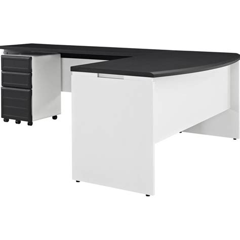 Altra Office Furniture by Altra Furniture Pursuit Small Office Set In White And Gray