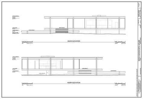 mies van der rohe farnsworth house plan ludwig mies van der rohe 1886 1969 elevation of the edith farnsworth residence