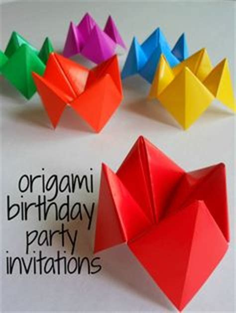 Origami Ideas For Birthdays - diy origami dinosaur invitation birthday invitation