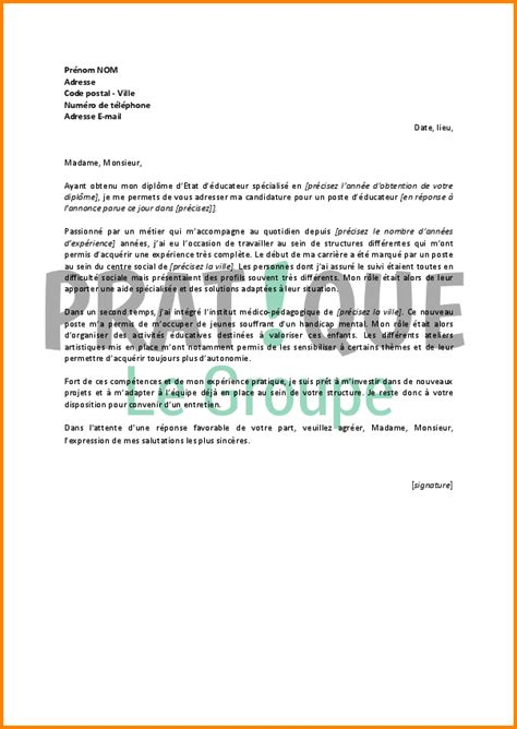 Moniteur Auto Ecole Lettre De Motivation 11 Lettre De Motivation Educateur Format Lettre