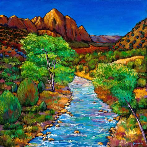 zion acrylic painting zion by johnathan harris giclee print artful home