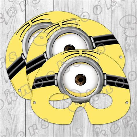 minion mask template despicable me 2 inspired printable minion mask