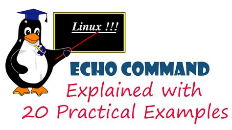 linux tutorial with practical echo command with practical exles linux arkit
