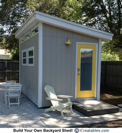 backyard office building 8x12 modern shed plans modern diy office studio shed