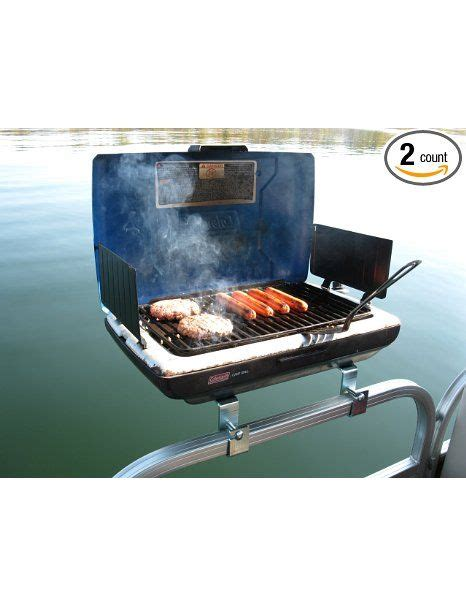 pontoon boat with grill for sale sun tracker rail mounted propane bbq grill on the