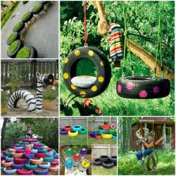 Backyard Tire Swing Funny And Cool Kids Garden Decoration Ideas Interior