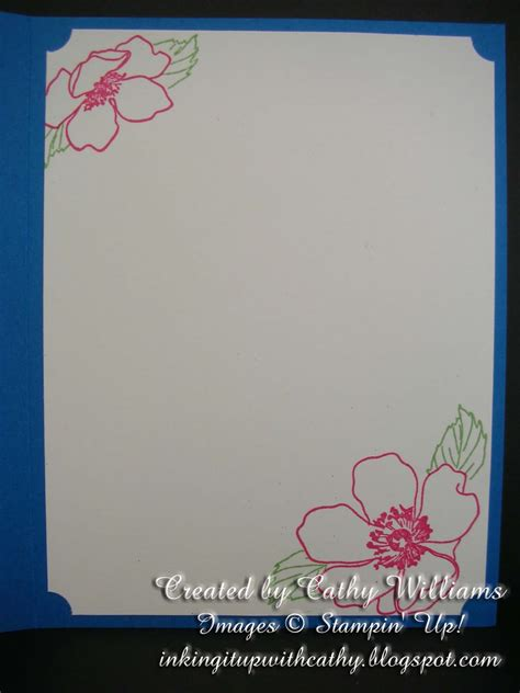 Lattice Card Template by Inking It Up With Cathy Lattice Fold Card Using Stin