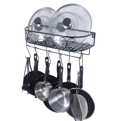 Pot Rack For Small Kitchen best wall mounted pot racks for small kitchens 2017 best wall mounted products