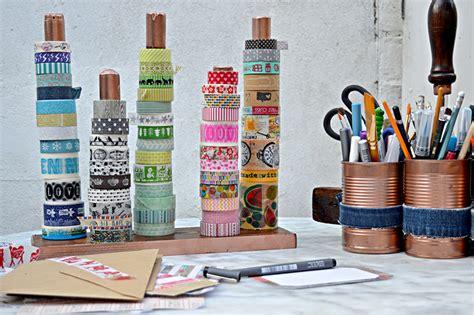 Ikea Organization Hacks Diy Handy Washi Tape Holder Twine Ribbon Holder Pillar