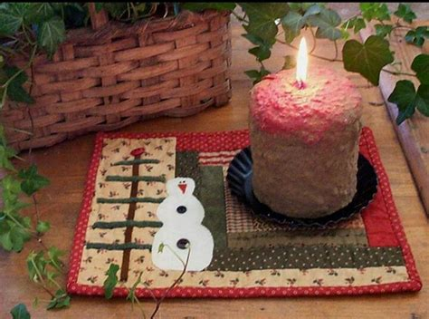 snowman mug rug 17 best images about glowing candlelight on advent candles candle and