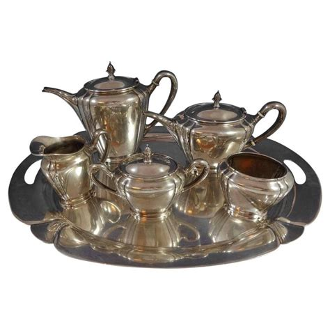 orchid by international sterling silver tea set of six