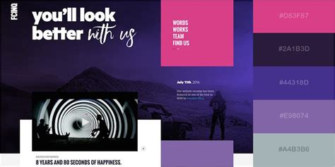 colour schemes for websites 29 beautiful color schemes from award winning websites