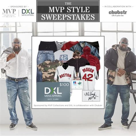 Dxl Gift Card - win mvp collections and dxl mens apparel clothing