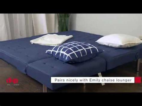 emily convertible futon gray linen dhp emily convertible linen futon gray