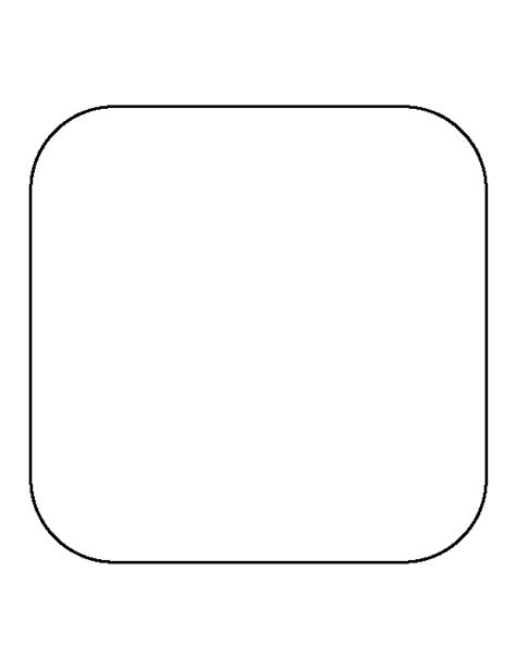 blank card rectangle curved corners template rounded square pattern use the printable outline for