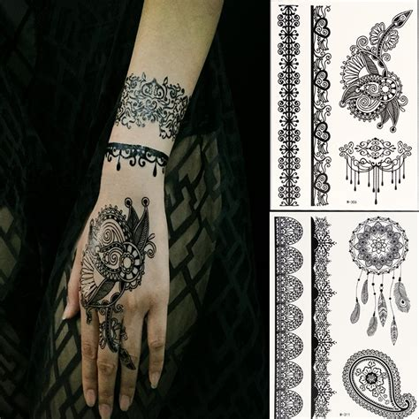 henna lace tattoo black henna